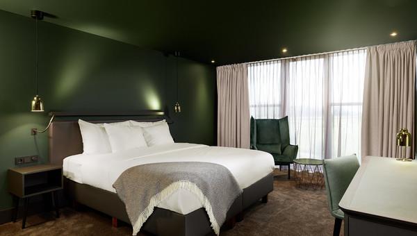 Komfort zimmer mit offenem bad van der valk hotel amsterdam